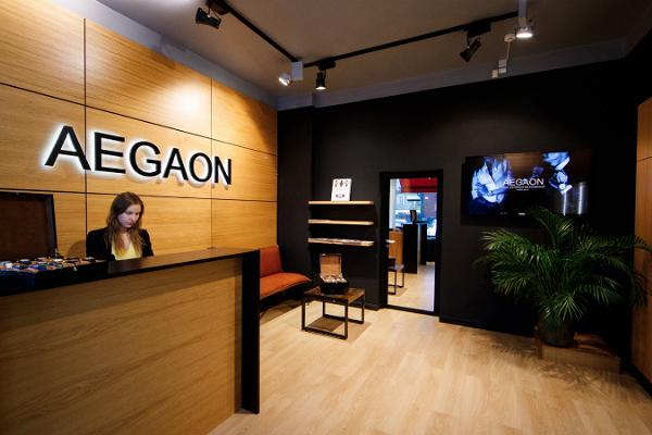 AEGAON rokas pulksteņu pārstāvniecības veikals