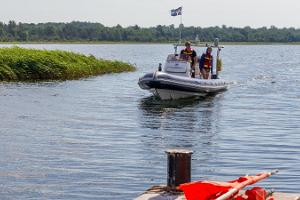 Fun trips and sea taxi on a motorboat
