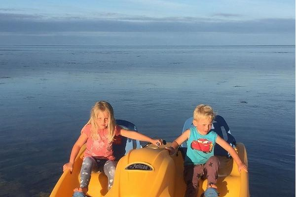Water bike and boat rental at Captain's Farm