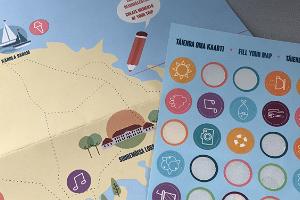 """Abenteuerspiel und Erinnerungskarte an die Insel Hiiumaa """"Mein Weg"""""""