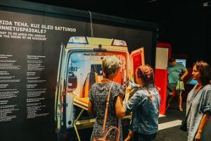 """Mašīnu halle - ekspozīcija """"Mašīnu pārvaldība""""."""