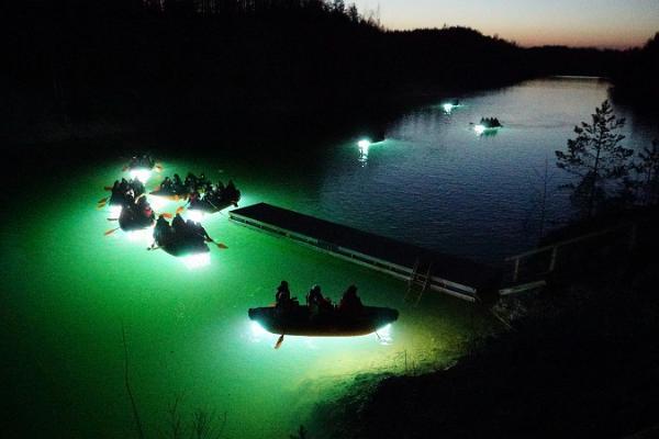 Light raft trip in Aidu fjords