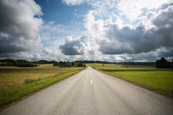 Landstrasse in Estland