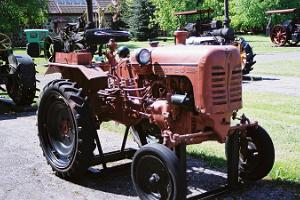Estonian Agricultural Museum, exhibition of old tractors