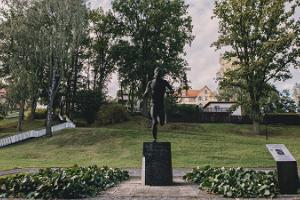 """Skulptur """"Läufer"""""""