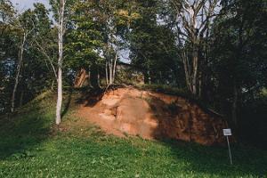 Liivakivi paljand Viljandi lossipargis