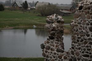 Die Ruinen vom Ordensschloss Tarvastu
