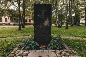 A memorial to the victims of the Soviet era