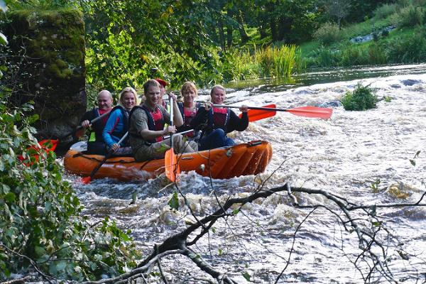 A summer rafting trip on the Võhandu River
