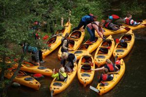 Two-day canoe and kayak trips on Ahja River
