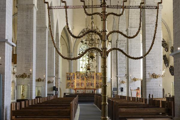 Nigulisten museo ja kirkko. Bernt Notken Kuolemantanssi-maalauksesta