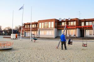 Lekplatsen vid Tamula strandpromenad
