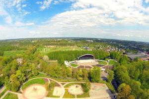 Discgolf-Bahnen im Dendropark des Freizeitparks Tähtvere in Tartu