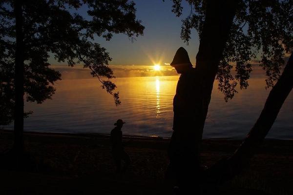 Ranna Recreation Centre, sunset