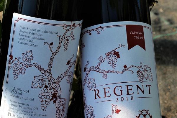 Järiste Veinitalu vein nimega Reginet