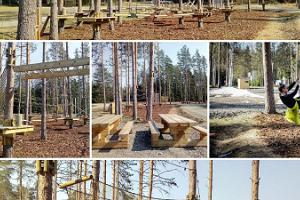 Niedriger Abenteuerpark in Kõrvemaa