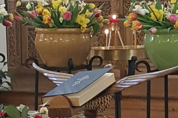 Giidiga tuur Püha Siimeoni ja Naisprohvet Hanna Kirikus