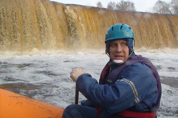 Rafting on Jägala River