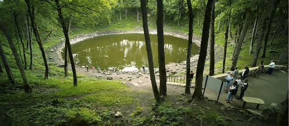 Kaali meteor crater on the island of Saaremaa