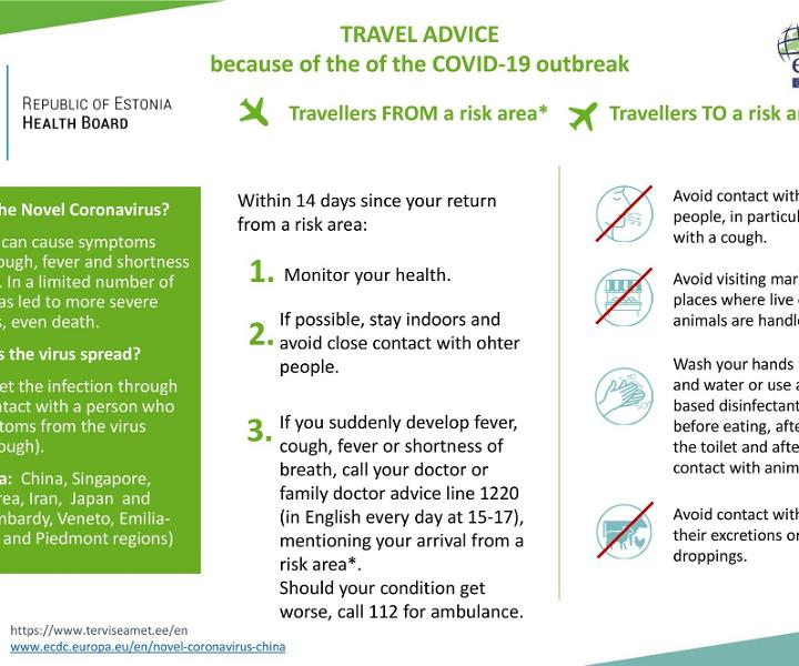 Travel advise due COV-19