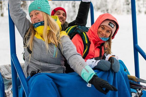 Vergnügungsfahrten mit dem Schneemobil in Kõrvemaa