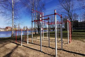 Pilli Park outdoor gym in Pärnu