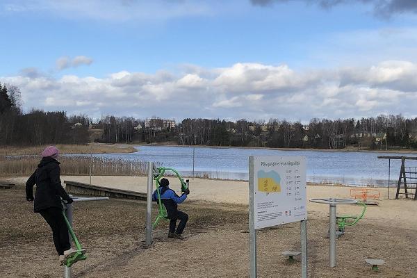 Outdoor gym at Põlva beach