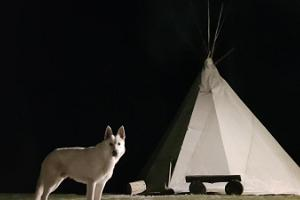 Tipi in Jõe Holiday Farm in Indian Village