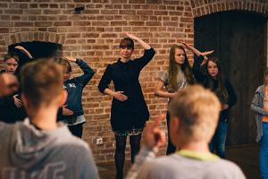 Song games workshop in the Estonian Traditional Music Centre in Viljandi