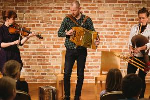 Traditional music concert in the Estonian Traditional Music Centre in Viljandi