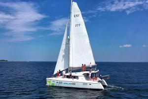 Sailing to Prangli Island