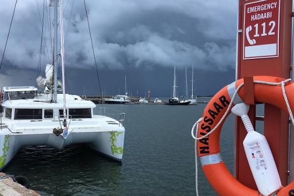 Sailing to Naissaar Island