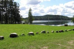Lake Pangodi and lakeside camping area