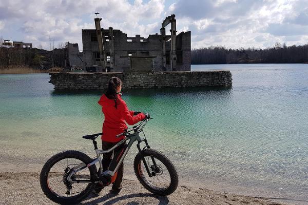 Electric bike tours on the Rummu Quarry tracks