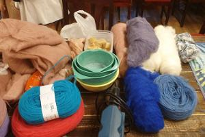 Felting workshops at Kallaste Farm