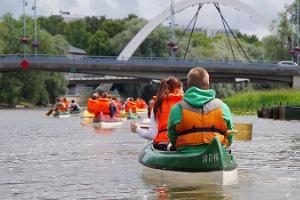 Guided canoe trip in Tartu