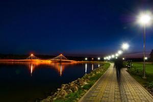 Tamulan järven ranta ja rantapromenadi