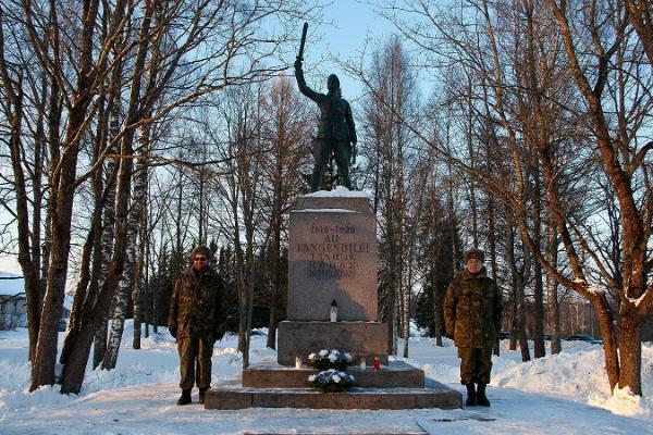Rõuges minnesmärke över Frihetskriget