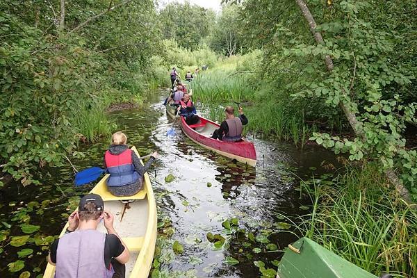 Canoeing on the Kooraste lakes