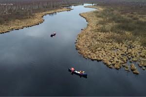 Nature Tours Estonia sunset canoe trips in Emajõgi-Suursoo