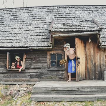 Old Võromaa, smoke sauna. Visit Estonia
