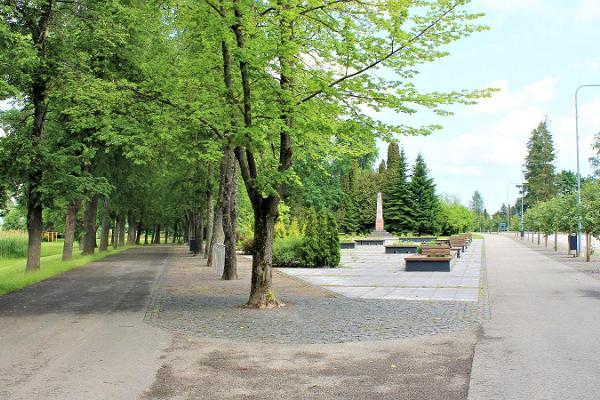 Monument Park (Ausamba park) in Räpina