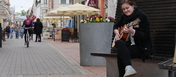 Die Fußgängerzone in Tartu