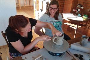 Loov Energia Ceramic Studio in Võru workshop 'Make your own mug'