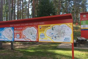 Disc golf at the Jõulumäe Sports and Recreation Centre
