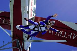 Tandem jump with an experienced instructor at Rapla Airport