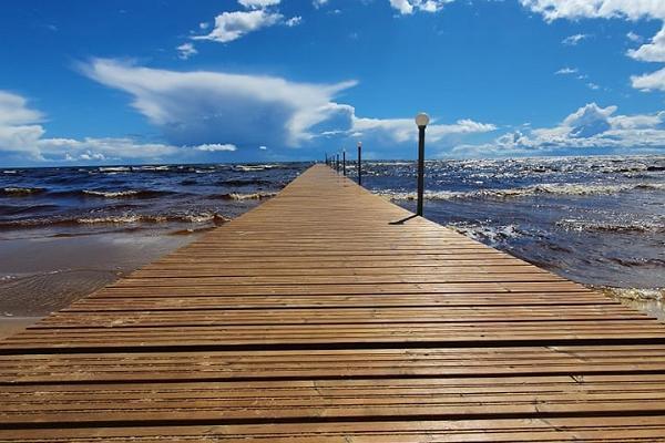 Kauksi Telklaager Peipsi järve kaldal