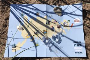 """Saaremaa täidetav seikluskaart """"Minu Rada"""""""