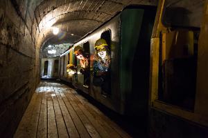 Eesti Kaevandusmuuseumis maa-alune rong