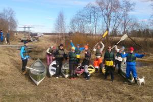 Kanuu.ee 1-dags kanottur på Saugaån